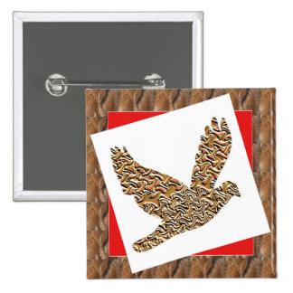 GoodLUCK Angel Bird Pet Kids Birthday Giveaway FUN 15 Cm Square Badge