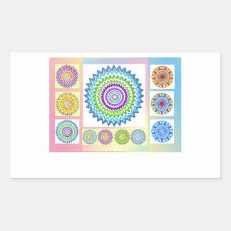 GoodLuck Charm Gifts : Chakra Collection Rectangular Sticker