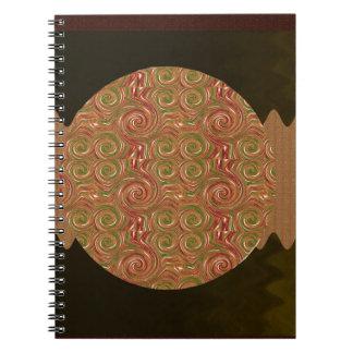 Goodluck Emblem Golden Embossed Waves Pattern Notebook
