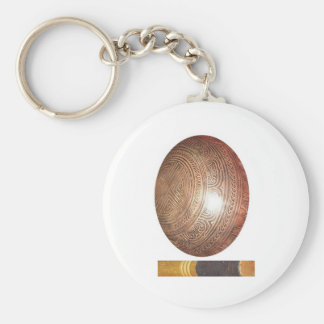 GoodLuck GIFTS : Tibetan Singing Bowl Basic Round Button Key Ring