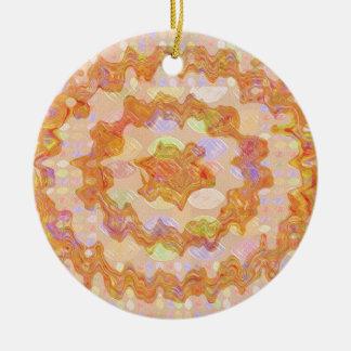 Goodluck Golden Embrace Round Ceramic Decoration