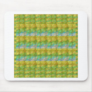 GOODLUCK Golden Green Crystal Beads crystal gifts Mousepad