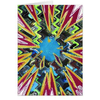 Goodluck modern abstract art sparkling star shine card