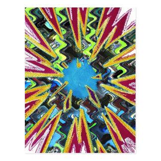 Goodluck modern abstract art sparkling star shine postcard