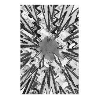 Goodluck Sparkle White n Black Star Graphic Art Stationery Design
