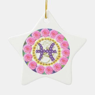 Goodluck  Zodiac Pisces Ceramic Star Decoration