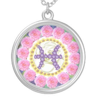 Goodluck Zodiac Pisces Round Pendant Necklace