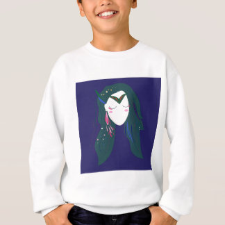 Goodness of Hunt, blue design in old style Sweatshirt