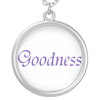 """Goodness"" Sterling Silver Necklace"