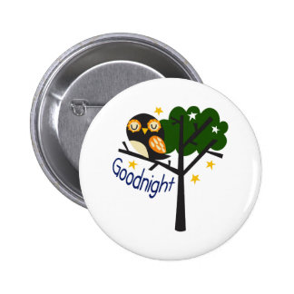 Goodnight 6 Cm Round Badge