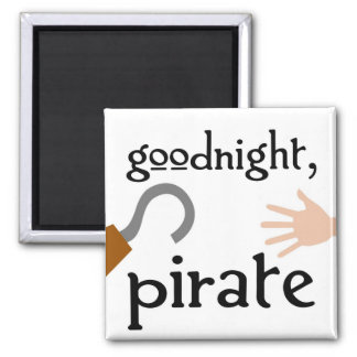 goodnight pirate square magnet