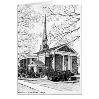 Goodrich Chapel Albion College Note card