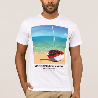Goodrington Sands Devon vintage travel poster T-Shirt