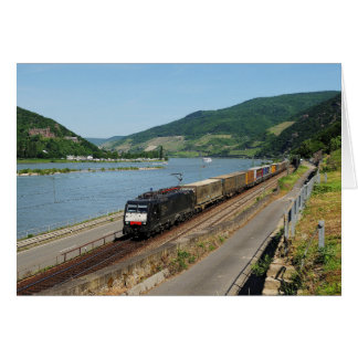 Goods train in ASS one ASS on the Rhine Card