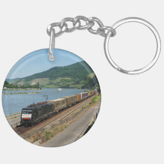 Goods train in ASS one ASS on the Rhine Key Ring
