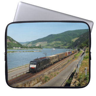 Goods train in ASS one ASS on the Rhine Laptop Sleeve