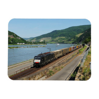 Goods train in ASS one ASS on the Rhine Magnet