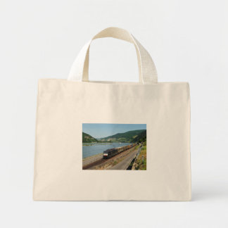 Goods train in ASS one ASS on the Rhine Mini Tote Bag