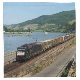 Goods train in ASS one ASS on the Rhine Napkin
