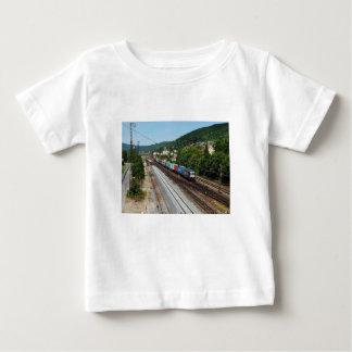 Goods train in Gemünden at the Main Baby T-Shirt