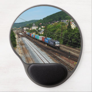 Goods train in Gemünden at the Main Gel Mouse Pad