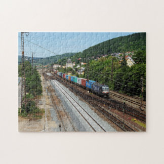 Goods train in Gemünden at the Main Jigsaw Puzzle