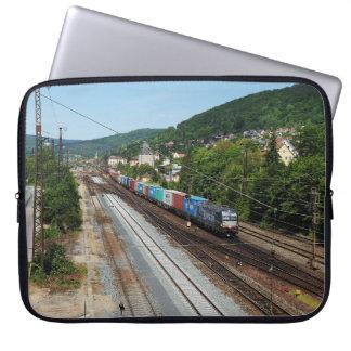 Goods train in Gemünden at the Main Laptop Sleeve