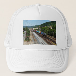 Goods train in Gemünden at the Main Trucker Hat