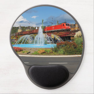 Goods train in Linz on the Rhine Gel Mouse Pad