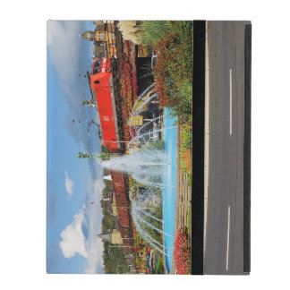 Goods train in Linz on the Rhine iPad Folio Case