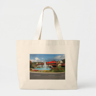 Goods train in Linz on the Rhine Large Tote Bag