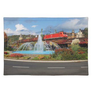 Goods train in Linz on the Rhine Placemat
