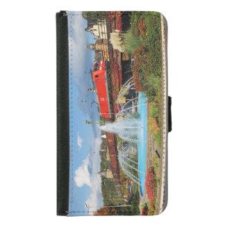 Goods train in Linz on the Rhine Samsung Galaxy S5 Wallet Case