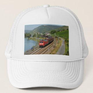 Goods train in Lorch on the Rhine Trucker Hat