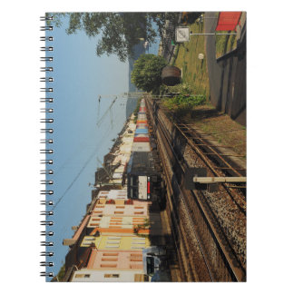 Goods train in Lorchhausen on the Rhine Spiral Notebook