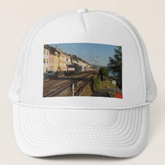 Goods train in Lorchhausen on the Rhine Trucker Hat