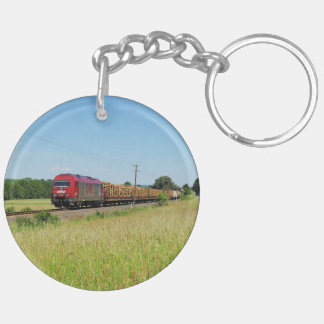 Goods train in Simtshausen Key Ring