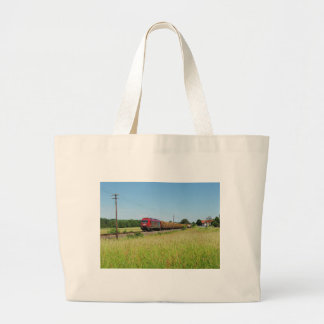 Goods train in Simtshausen Large Tote Bag