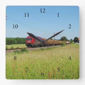 Goods train in Simtshausen Square Wall Clock