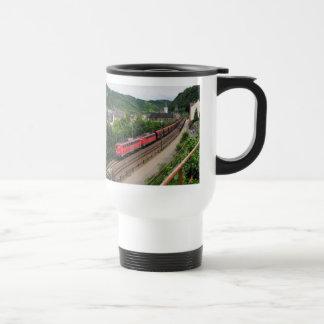 Goods train in St. Goar Travel Mug