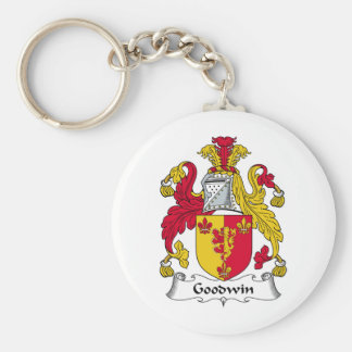 Goodwin Family Crest Basic Round Button Key Ring