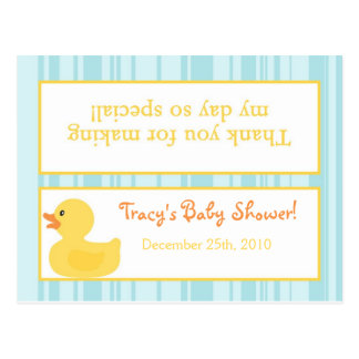 Goody Bag Topper Rubber Ducky Bubbles Post Card