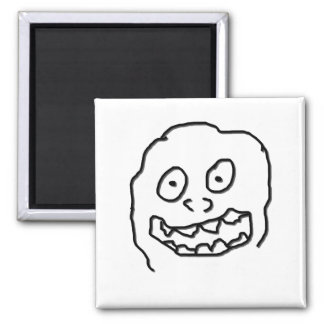 Goof Doodle Nut 0003 black and white Square Magnet