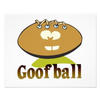 GOOFBALL funny football cartoon character 11.5 Cm X 14 Cm Flyer