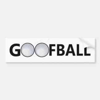 Goofball Golfball Bumper Sticker