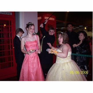 Goofing around at Senior prom Standing Photo Sculpture
