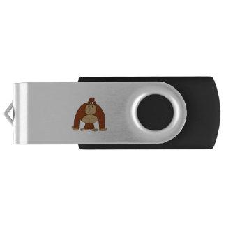 """Goofy Ape"" Swivel USB 3.0 Flash Drive"