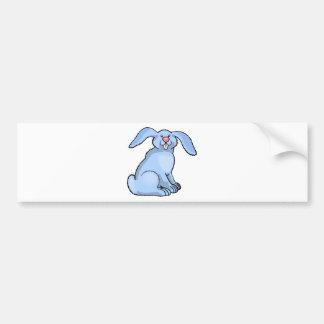 Goofy Blue Bunny Bumper Sticker