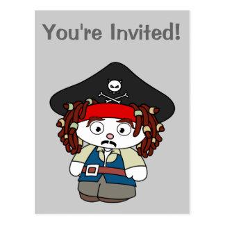 Goofy Cartoon Pirate Post Card