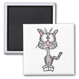 Goofy Cat Magnet